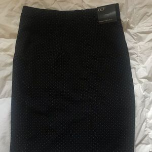 Banana Republic Skirts - Black knee-length skirt w/small white polka dots